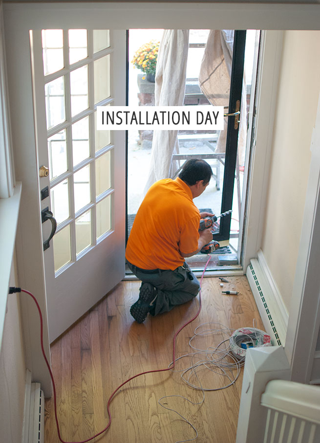 installation day – walk through the installation process and favorite parts