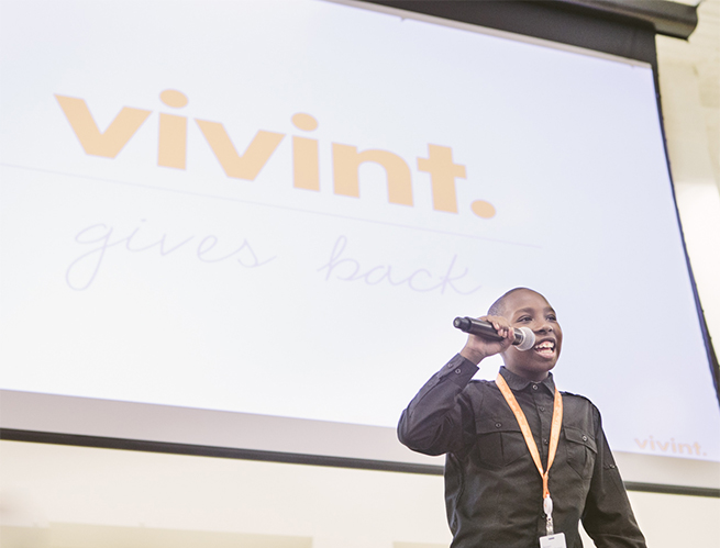 chance family + vivint gives back