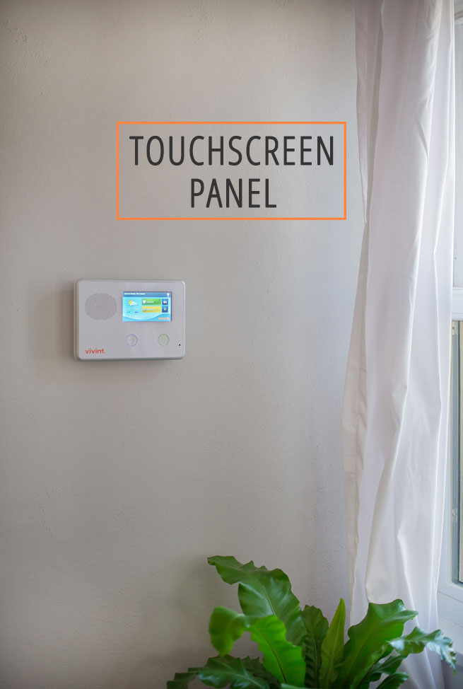 product features – touchscreen panel