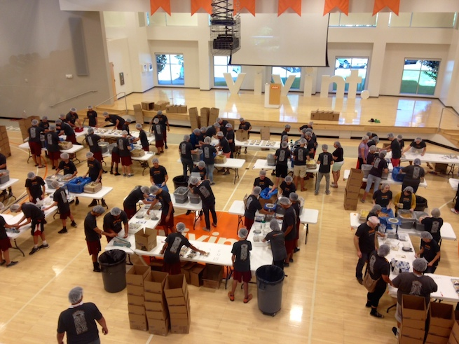 775 vivint volunteers pack meals for malnourished children