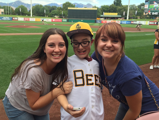 Vivint Gives Back joins up with the Bees for Autism Awareness Night!