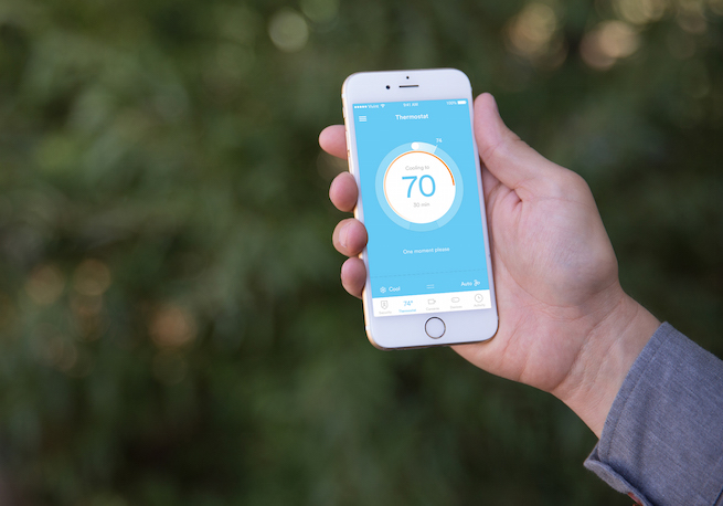 Win the battle on heating and cooling with the Vivint Sky app!