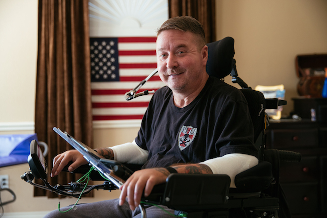 Wounded vet calls the shots with Vivint Smart Home