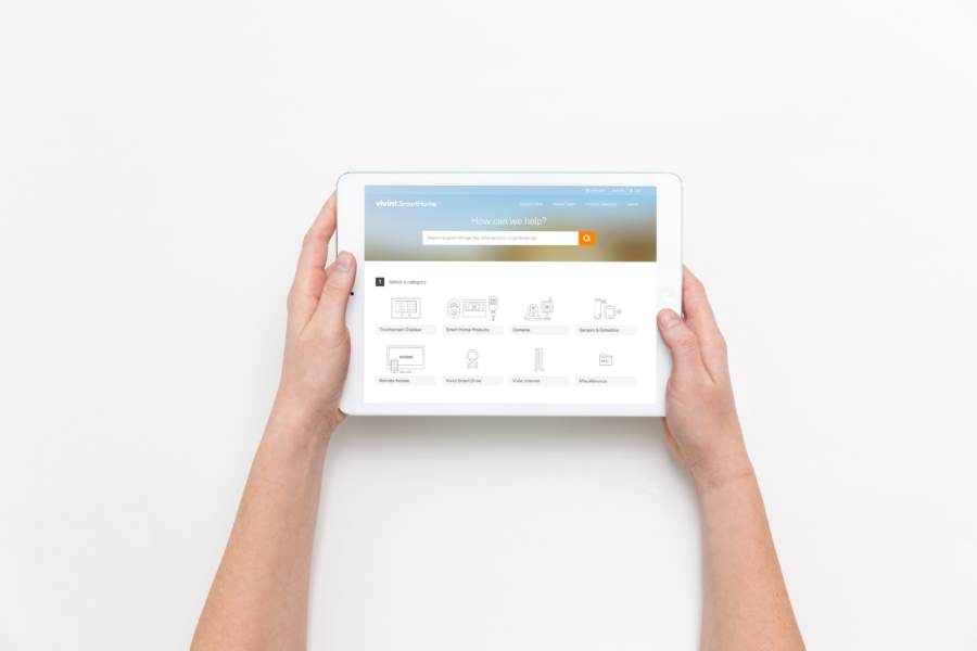 Vivint's support site stops the guessing…and wandering