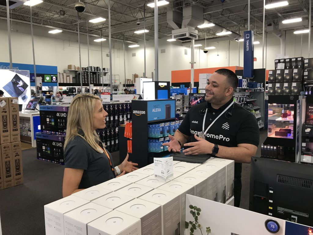 Vivint Executives Take to Best Buy Stores